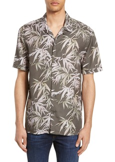 French Connection Bamboo Print Camp Shirt