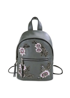French Connection Beaded Floral Mini Backpack