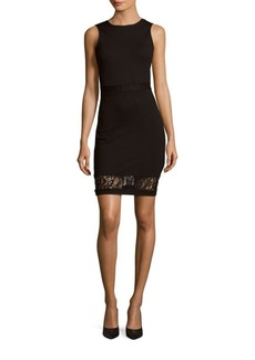 French Connection Beau Lace-Trimmed Sheath Dress