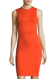 French Connection Beau Mesh-Inset Sleeveless Slim Dress