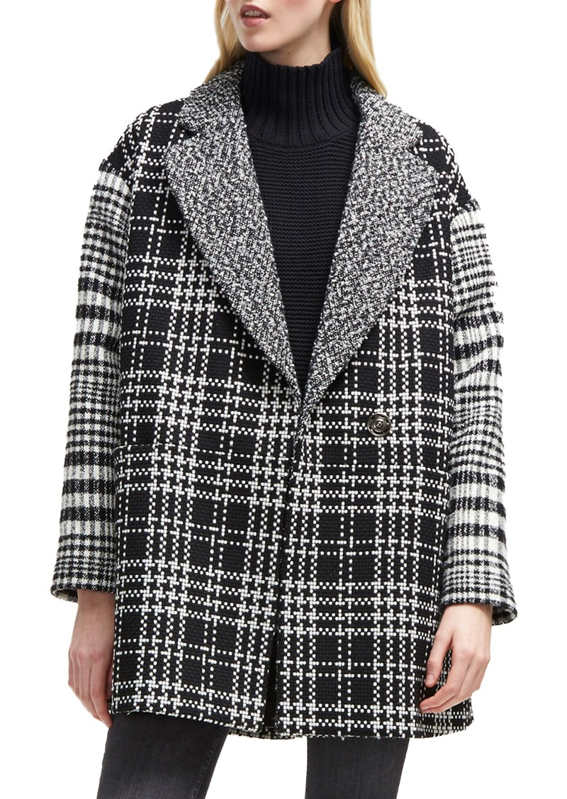 French Connection Belinda Mix Check Coat