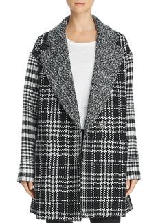 FRENCH CONNECTION Belinda Mixed-Plaid Coat