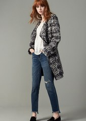 French Connection Belted Tweed Bouclé Coat