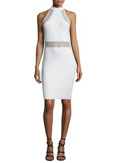 French Connection Bette Sleeveless Mesh-Inset Bodycon Dress