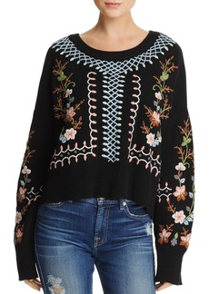 FRENCH CONNECTION Bijou Floral-Embroidered Sweater