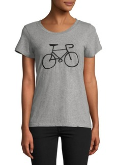 French Connection Bike Graphic Cotton Tee