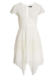 French Connection Bikita Lace Handkerchief Hem Dress