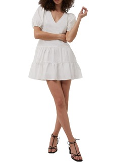 French Connection Birch Poplin Puff Sleeve Minidress