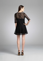 French Connection black lace sheer sleeve 'Gigliol...