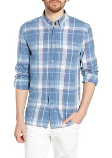 French Connection Bleached Check Slim Fit Shirt