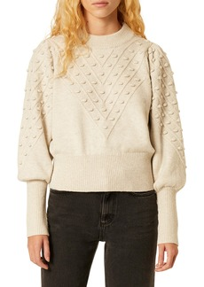 French Connection Bobble Stitch Crop Sweater
