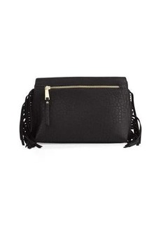 French Connection Bowie Suede Fringe Clutch Bag