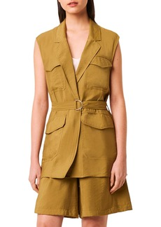 French Connection Brekhna Drape Belted Vest