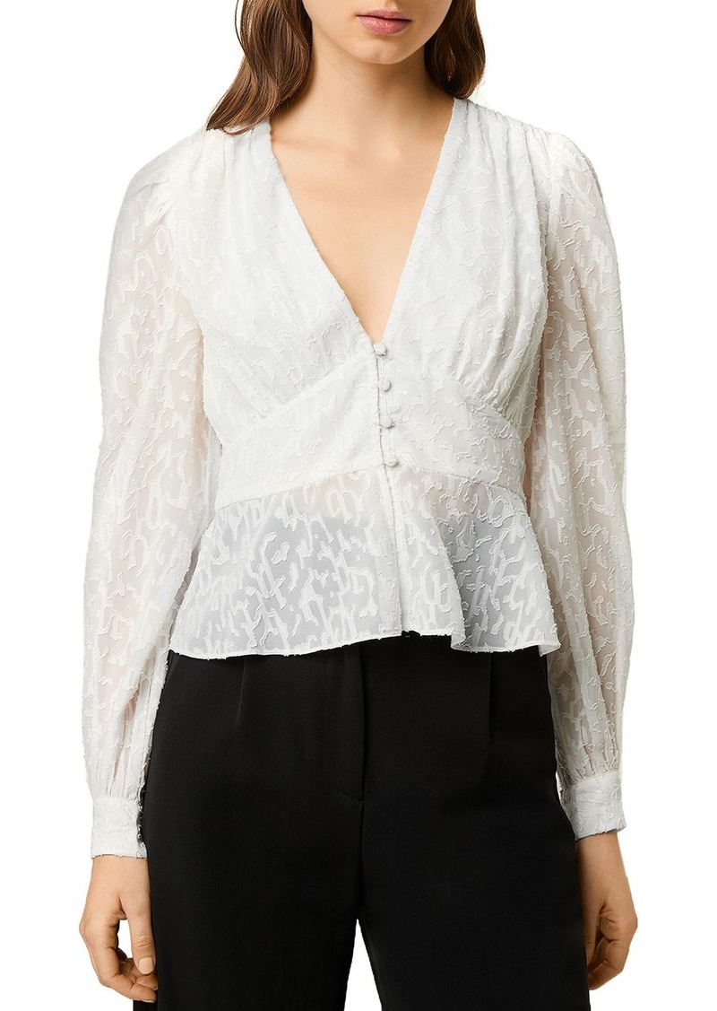 FRENCH CONNECTION Brenna Fil Coup� V-Neck Top