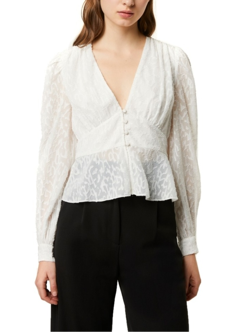 French Connection Brenna Fil Coupe Blouse