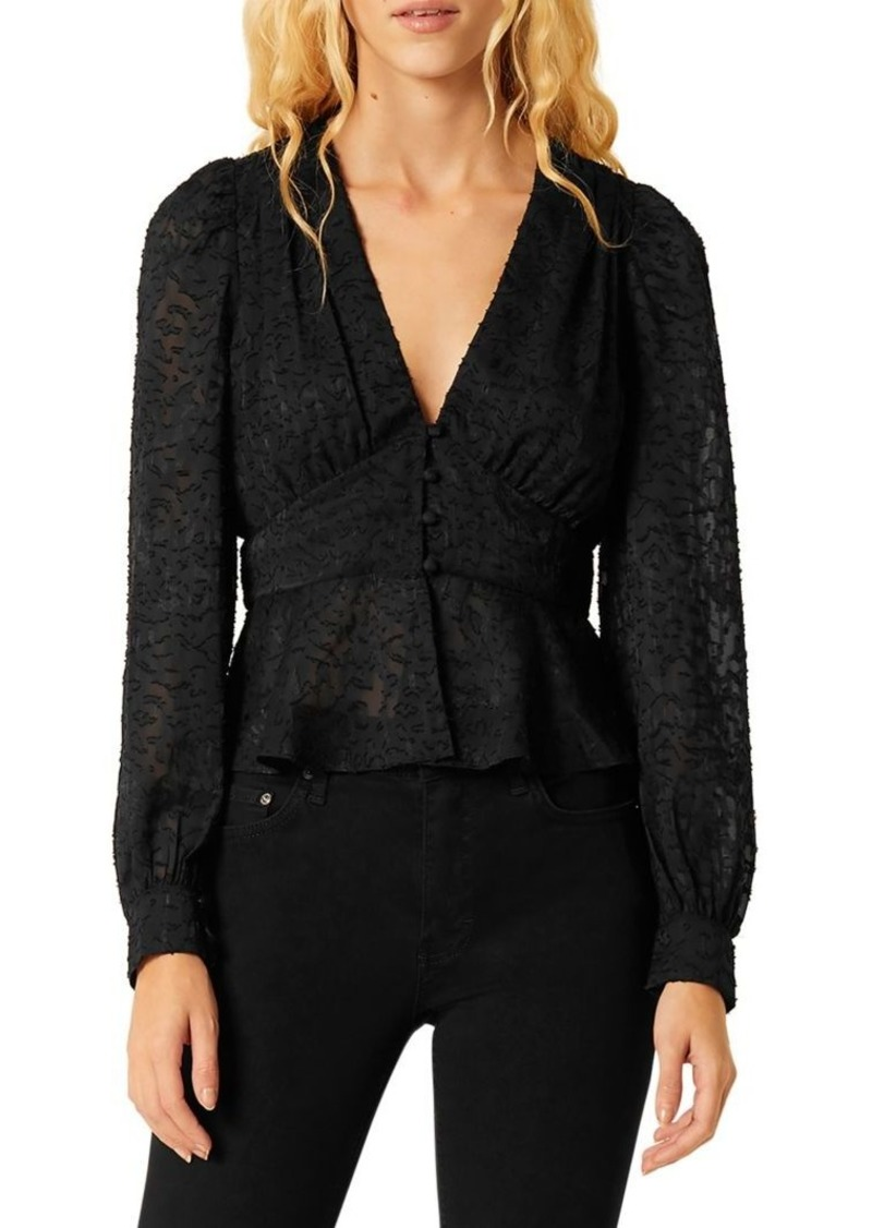 French Connection Brenna Textured Sheer Top