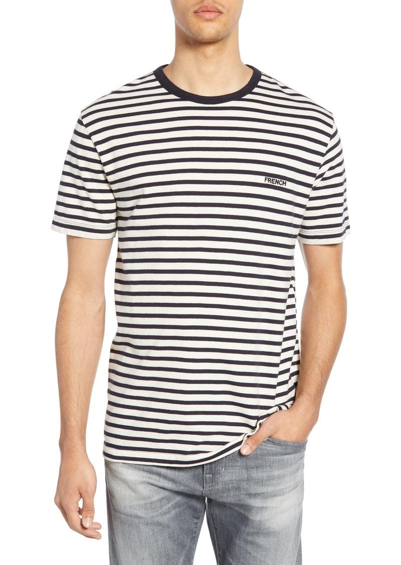 French Connection Breton Stripe Ringer Neck T-Shirt