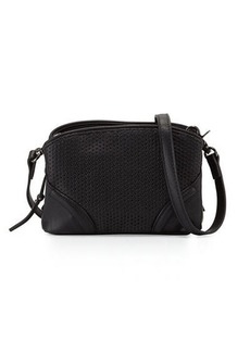 French Connection Brett Perforated Faux-Leather Crossbody Bag