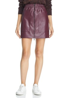 FRENCH CONNECTION Brishen Faux-Leather Mini Skirt