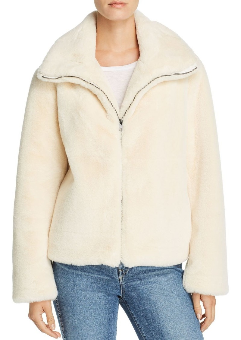 FRENCH CONNECTION Buona Faux-Fur Jacket