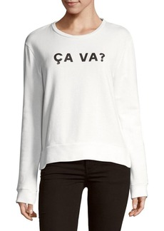 French Connection Ca Va Cotton Sweatshirt