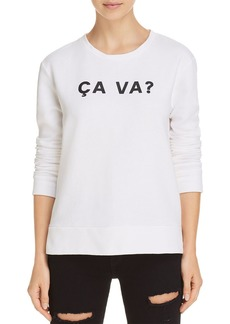 "FRENCH CONNECTION ""Ca Va?"" Graphic Sweatshirt"