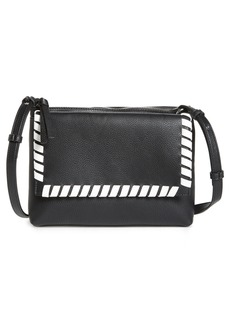 French Connection Callie Whipstich Faux Leather Crossbody Bag