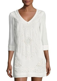 French Connection Camber Sands Embroidered Dress