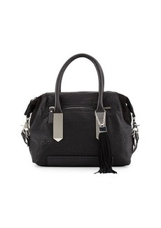 French Connection Camden Suede-Trim Satchel Bag