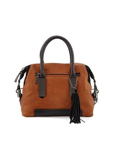 French Connection Camden Suede-Trim Satchel Bag
