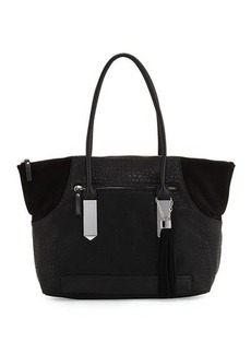 French Connection Camden Suede-Trim Tote Bag