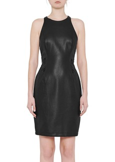 French Connection Canterbury Faux Leather Sheath Dress