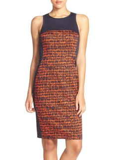 French Connection 'Canyon Sands' Sateen Sheath Dress