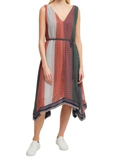 French Connection Caprice Printed Asymmetric Dress