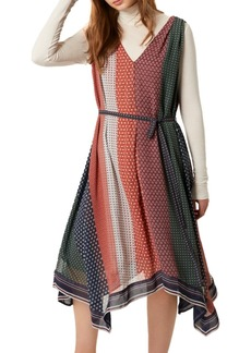 French Connection Caprice Printed Handkerchief-Hem Dress