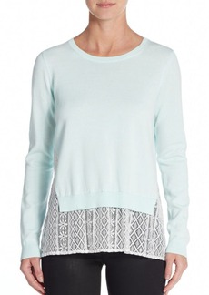 French Connection Cara Lace-Insert Sweater
