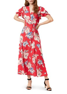 FRENCH CONNECTION Cari Floral Maxi Wrap Dress