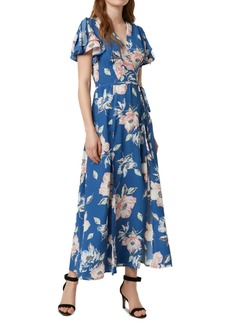 French Connection Cari Flutter-Sleeve Maxi Dress