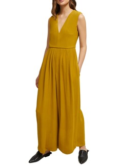 French Connection Carrabelle Wide Leg Crepe Jumpsuit