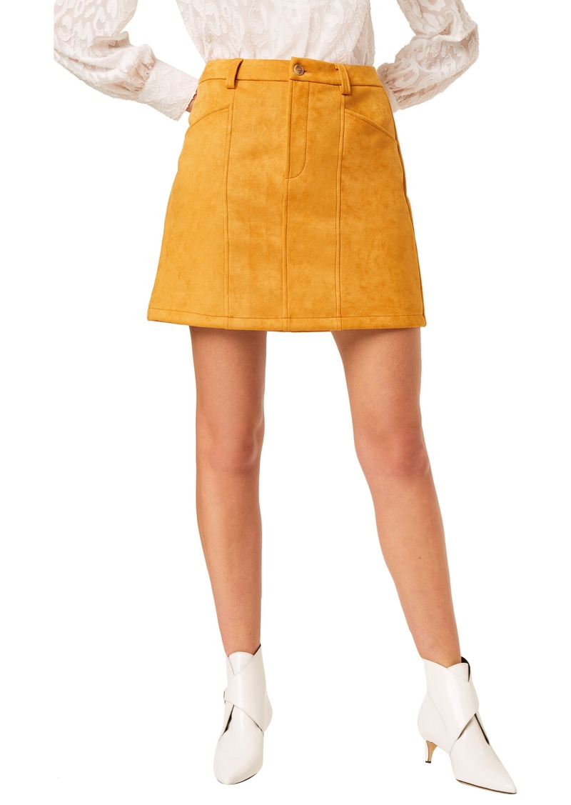 French Connection Carrie Faux Suede Miniskirt