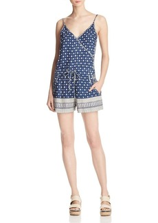 FRENCH CONNECTION Castaway Drape Printed Romper