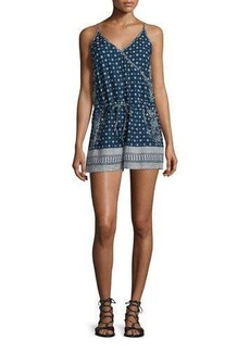 French Connection Castaway Drawstring-Waist Romper