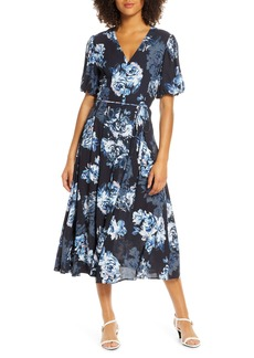 French Connection Caterina Floral Chiffon Midi Dress