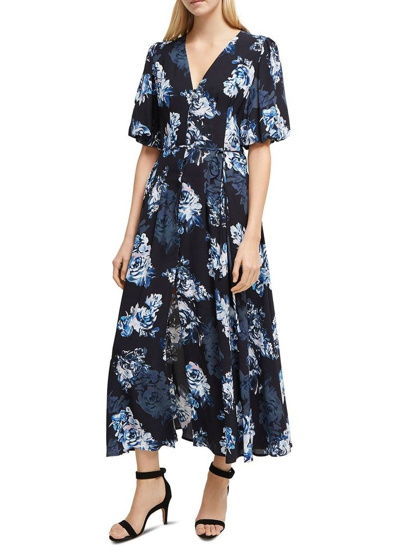 FRENCH CONNECTION Caterina Floral-Print Front-Button Midi Dress