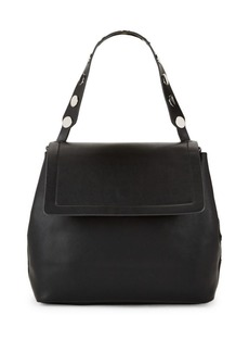 French Connection Celia Large Leather Flap Bag