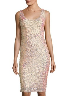 French Connection Celia Sequined Sheath Dress