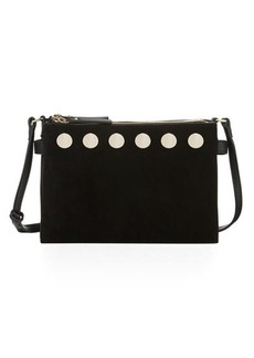 French Connection Celia Studded Triple-Top Crossbody Bag