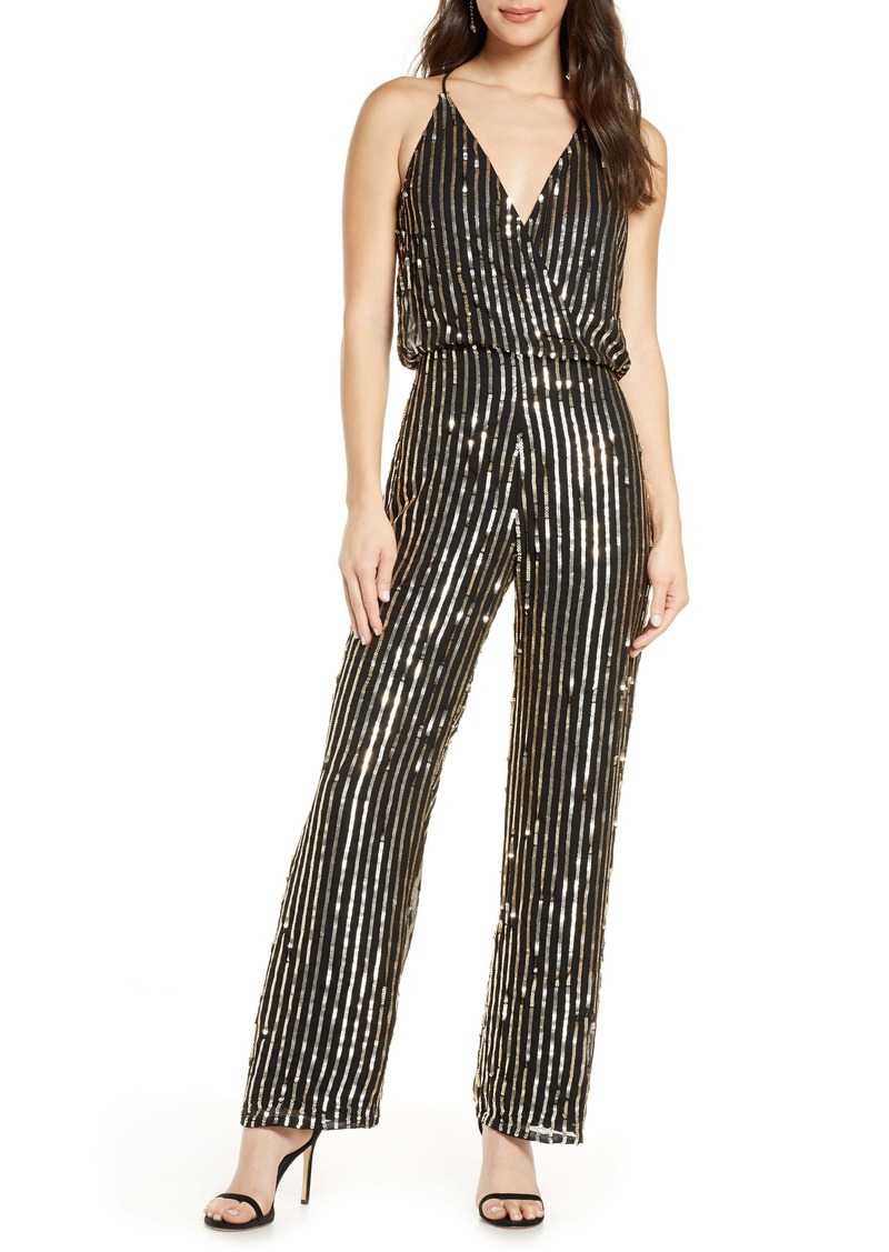 French Connection Celina Sequin Blouson Jumpsuit