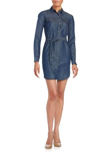 FRENCH CONNECTION Chambray Button-Front Shirtdress