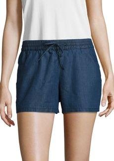 French Connection Chambray Drawstring Shorts